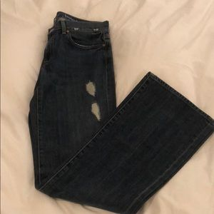 7 for all mankind distressed jeans. Bootcut